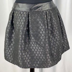 Jun & Ivy  Skater Skirt brocade Metallic Print